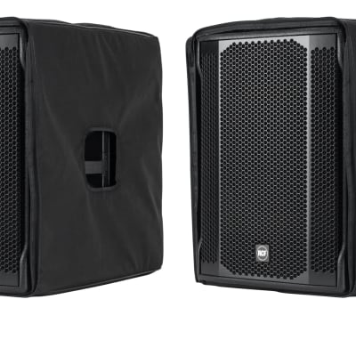 """2 RCF SUB-708AS-MK2 Active 18"""" Powered Subwoofers with covers Open Box"""