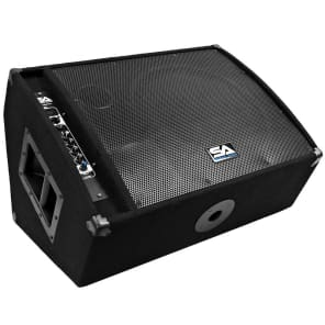 "Seismic Audio FL-15MP-PW Powered 1x15"" 400w Floor Monitor Wedge Speaker"