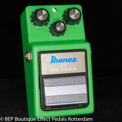 Ibanez TS-9 Tube Screamer 1981 Japan s/n 114262 Black Label with JRC4558D op amp, The Edge U2