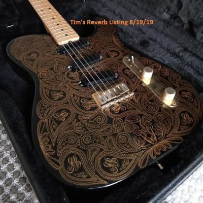 Fender James Burton US Signature Telecaster Gold Paisley 89 for sale