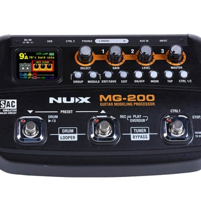 nuX MG-200 Modeling Guitar Effcts Processor
