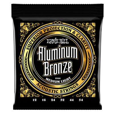 Ernie Ball 2566 Medium Light Aluminum Bronze Acoustic Guitar Strings - 12-54 Gauge