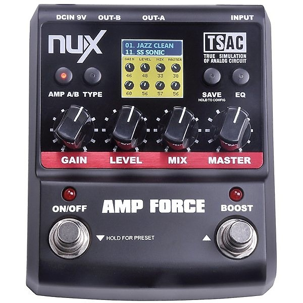 nux amp force modeling dual amp stereo pedal free shipping reverb. Black Bedroom Furniture Sets. Home Design Ideas