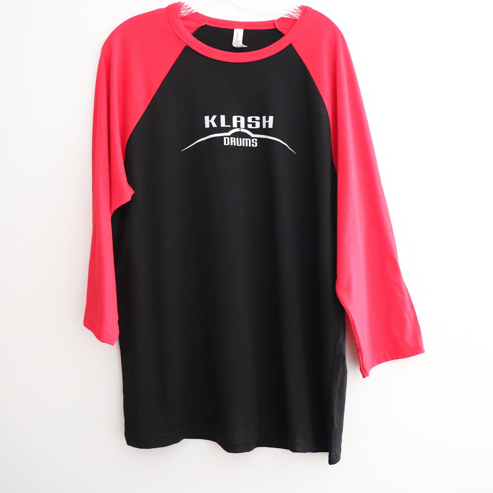 Klash Drums Male 3/4 Sleeve Shirt Black/Red