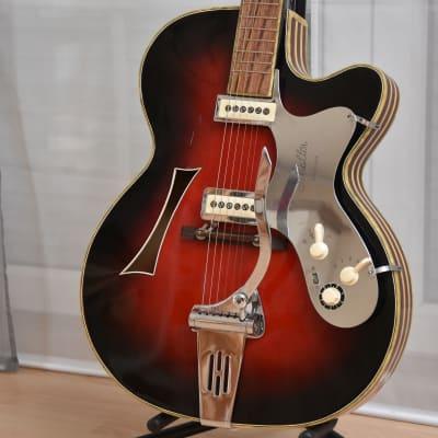 Hüttl Opus 61 – 1960s German Vintage Archtop Jazz Guitar / Gitarre