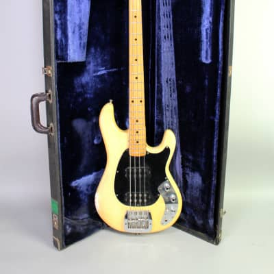 1979 Music Man Sabre Bass Blonde Finish Vintage Electric Bass Guitar w/OHSC Signed By Marcus Miller for sale