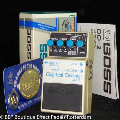 Boss DD-2 Digital Delay 1986 Japan s/n 634400 as used by Eric Clapton and Tom Morello, David Gilmour