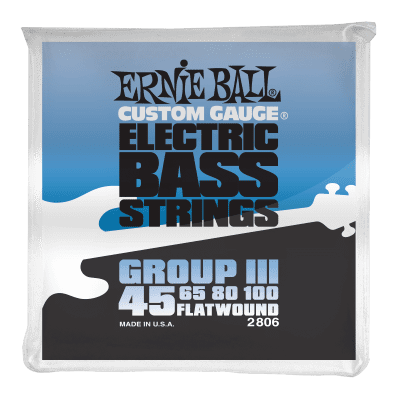 Ernie Ball 2806 Flatwound Group III Electric Bass Strings (45-100)