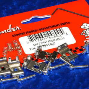 Genuine Fender USA Vintage Series Stratocaster Strat Bridge Sections & Hardware, Set Of 6 0992051000