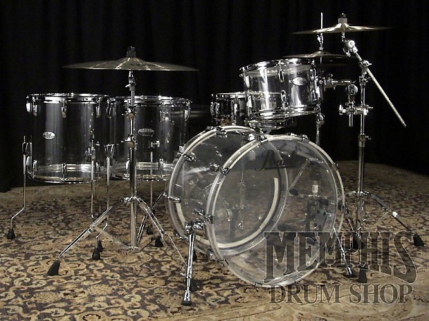pearl crystal beat acrylic drum set 22 12 14 16 ultra clear reverb. Black Bedroom Furniture Sets. Home Design Ideas
