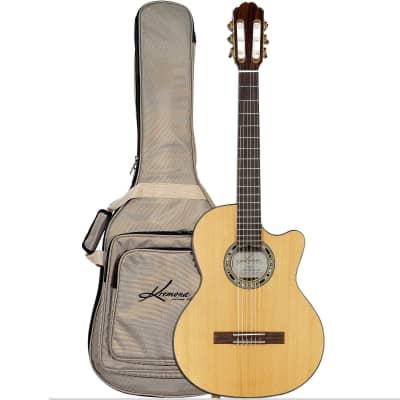Kremona Verea Cutaway Acoustic-Electric Nylon String Guitar w/ Gig Bag for sale