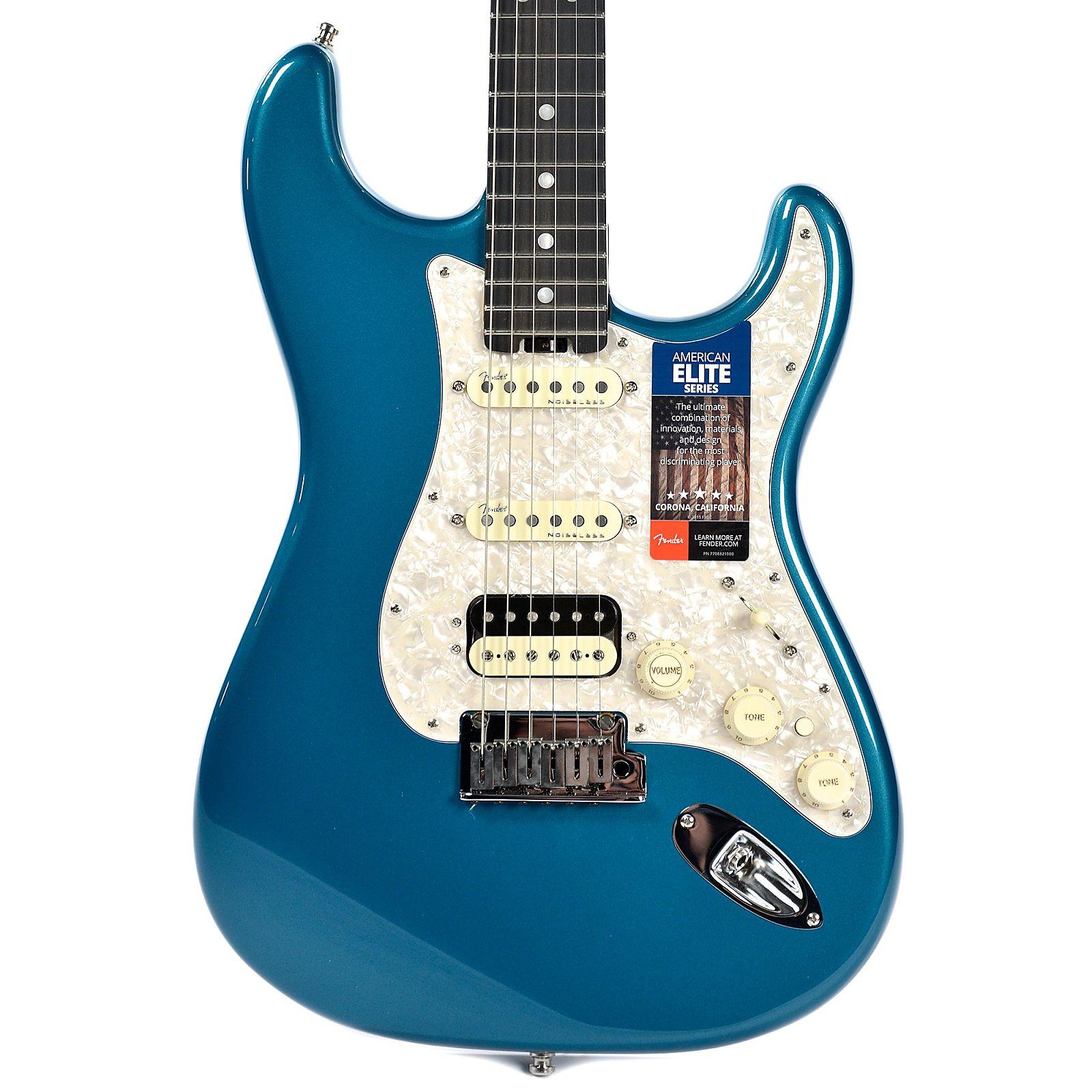 Fender American Elite Stratocaster HSS Shawbucker EB Ocean Turquoise  w/Hardshell Case