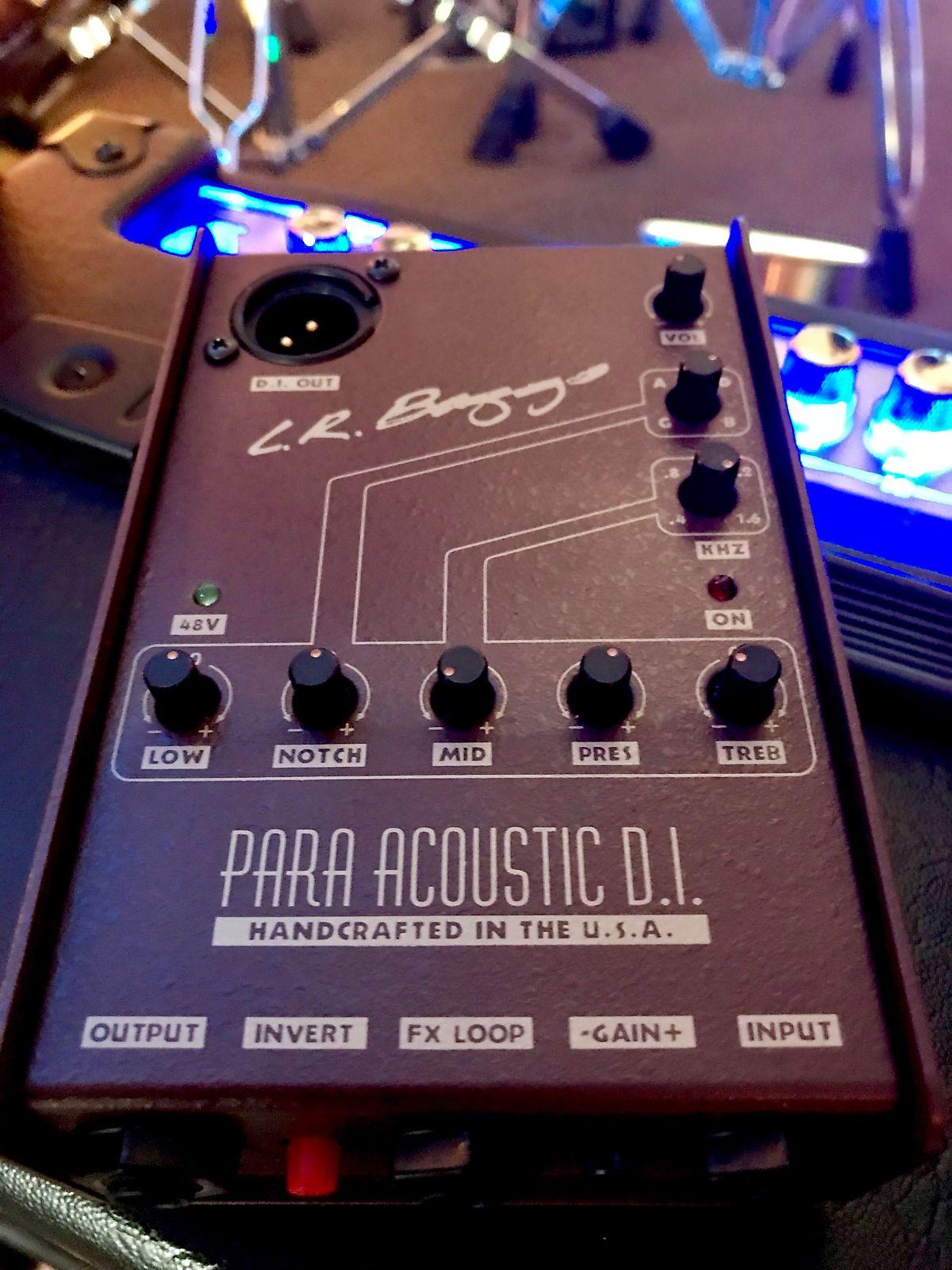 Phantom Power NEW! LR Baggs Para Acoustic DI Guitar Preamp XLR Out 5 Band EQ