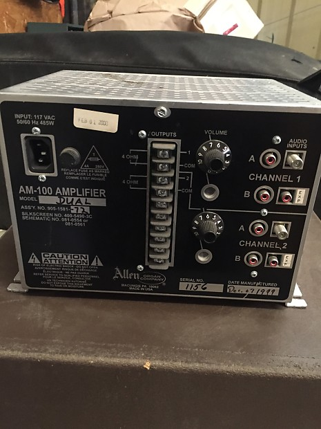 Allen Organ Am -100 Single Channel Amplifier | Fox