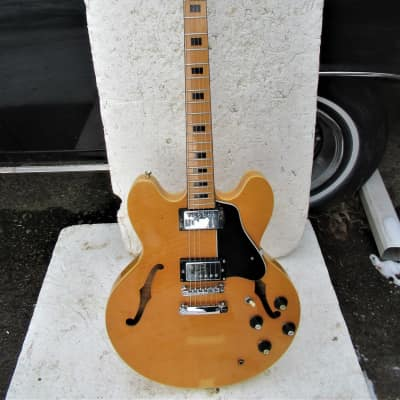 Arita 335 Guitar, Early 1970's, Japan, Matsumoku Factory,  Flame Maple Blond, Schallers for sale