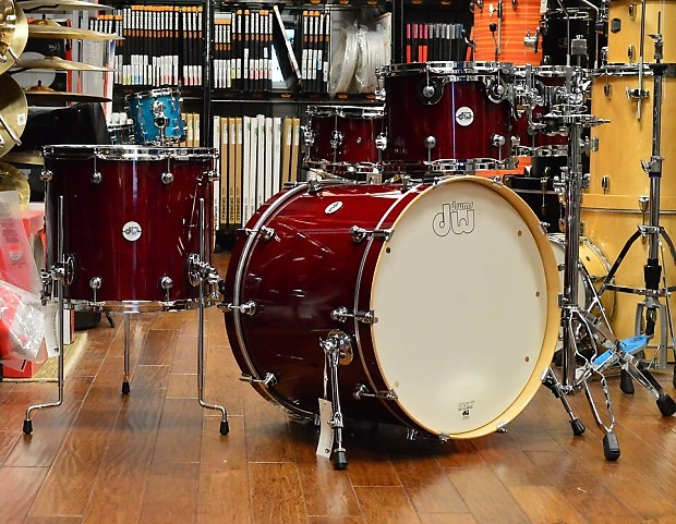 dw design series drum set 22 10 12 16 14 cherry stain reverb. Black Bedroom Furniture Sets. Home Design Ideas