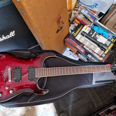 Washburn  X-50 PRO Q 2015 Dragons Blood Red for sale