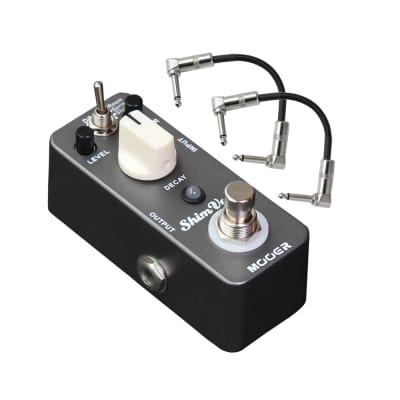 Mooer ShimVerb Digital Reverb Guitar Pedal with Patch Cables