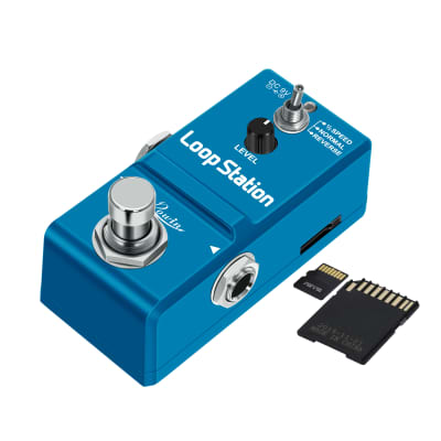 Rowin Loop Station Looper Effects Pedal with SD Card for 10 Minutes of Looping, Unlimited Overdub