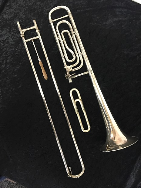 Boosey & Hawkes Bass Trombone 1939 Silver Plated