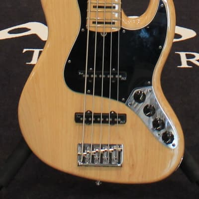Fender American Deluxe V Jazz Bass Natural for sale