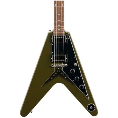 Epiphone Flying V Electric Guitar, Olive Drab Green