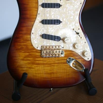 Fender Foto Flame Strat  1995 Burst for sale