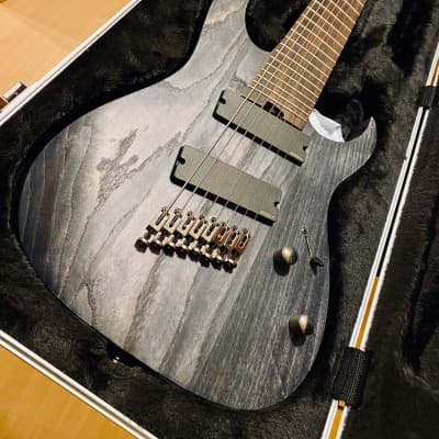 Ibanez RGIF8-BKS + Hardcase premium Iron Label RG Series Fanned Fret 8-String Black Stained