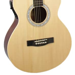 Indiana MAD-NT Madison Concert Cutaway 6-String Acoustic-Electric Guitar - Natural for sale