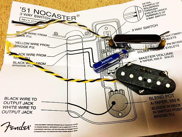 2017 Fender Custom Shop '51 Nocaster Tele Set / Usps 3-4 Day Priority on