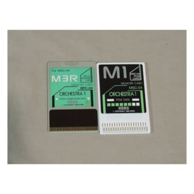 Korg M3R Orchestra memory card RPC-04 & MSC-04 for M-3R