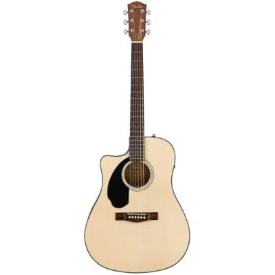 Fender CD-60SCE Left-Handed with Walnut Fretboard Natural