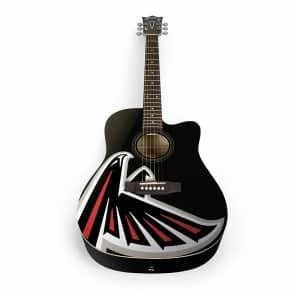 Woodrow Atlanta Falcons Acoustic Guitar Graphic