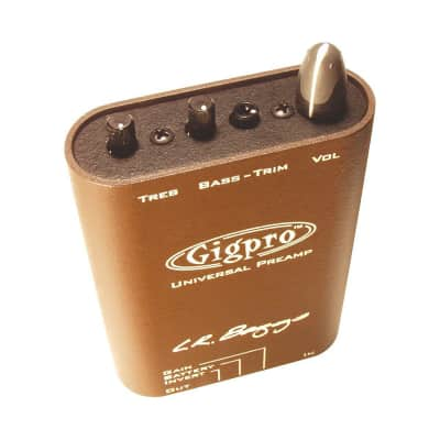 LR Baggs Gig Pro Lightweight Beltclip Acoustic Guitar Preamp with 3 Band EQ