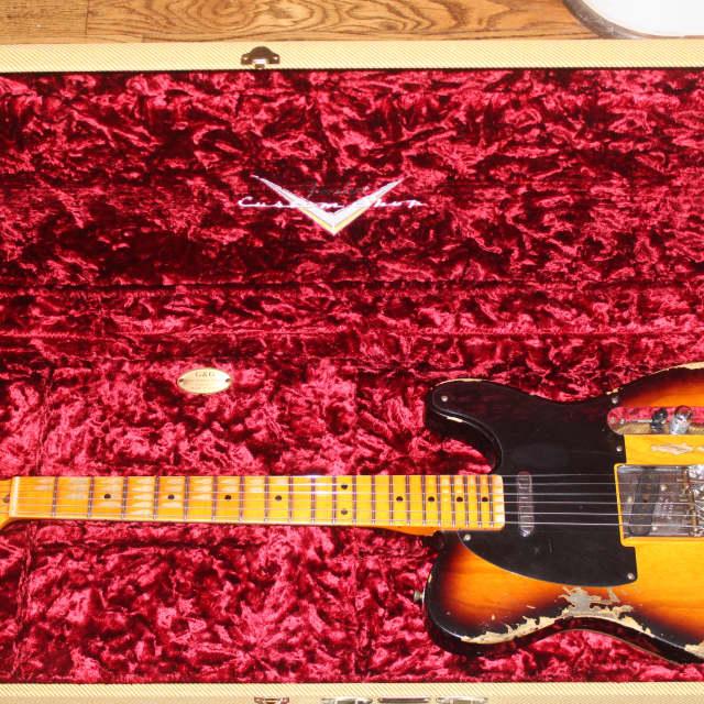 Fender Custom Shop 1952 Telecaster Heavy Relic 2016 Sunburst HW Pickups image