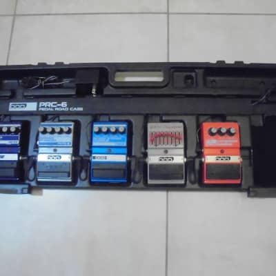 1980's DOD Pedalboard Loaded with 5 DOD Pedals + Power Supply