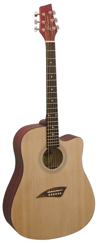 kona k1 acoustic dreadnought cutaway guitar in natural finish reverb. Black Bedroom Furniture Sets. Home Design Ideas