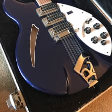 RARE FINISH!! 2008 Rickenbacker 370/12 Blue hollowbody 12 string