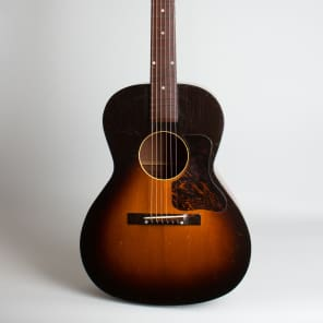 Kalamazoo  KG-14 Flat Top Acoustic Guitar (1942), ser. #7026H-4 (FON), black hard shell case. for sale