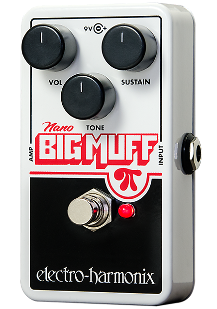 Electro Harmonix Nano Big Muff Pi Fuzz / Distortion Pedal w/ Battery EHX