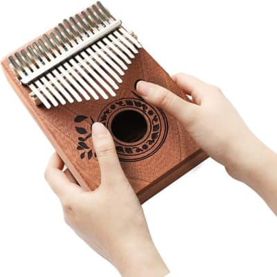 17-Key Full Size Standard Kalimba (Thumb Piano) + Accessories Full Kit Bundle