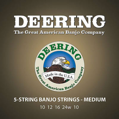 Deering 5-String Banjo Strings - Medium Gauge