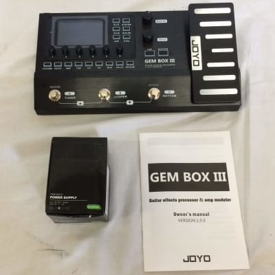 Joyo GEM BOX III Multi Effect Guitar Processor w/ Looper and Drum Machine Customer Return for sale