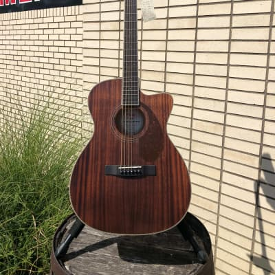 Fender Fender Paramount PM-2 Parlor NE All-Mahogany Acoustic Guitar, Natural 2019 Natural for sale