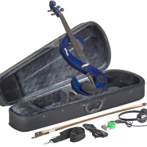 Stagg EVN-4/4-MBL Silent Violin Set w/ Case, Headphones