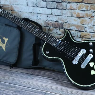 Zemaitis C24SU  BLACK PEARL Heart Electric Guitar  With Deluxe Zemaitis Gigbag for sale