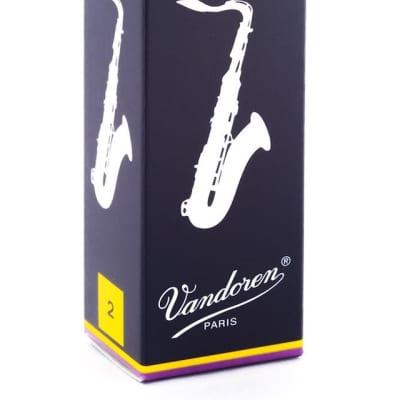 Vandoren Tenor Saxophone Reeds Strength 2, Box of 5