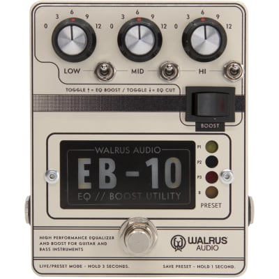 Walrus Audio EB-10 Cream Preamp, EQ and Boost effects pedal for sale
