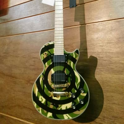 Epiphone Zakk Wylde Les Paul Custom 2008, Made in Korea, With Artist's Signature 2008 Camouflage for sale