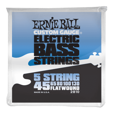 Ernie Ball 2810 Flatwound 5-String Electric Bass Strings (45-130)